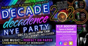 PGB New Year's Eve Party Decade Decadence!