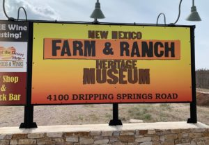 Farm and Ranch Museum sign