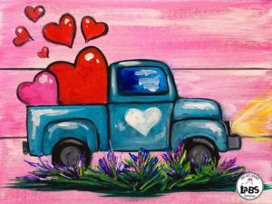 Loads of Love Acrylic Painting at The Bistro