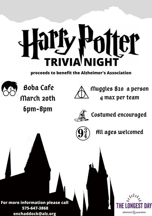 Harry Potter Trivia Night Las Cruces