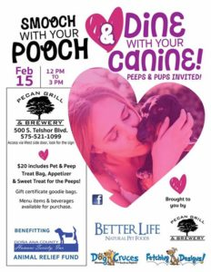 Smooch With Your Pooch $ Dine with Your Canine!