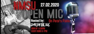 Open Mic on Pete's Patio: Hosted By Daisy Blue